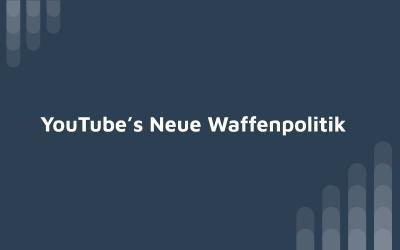 YouTube's New Gun Policy